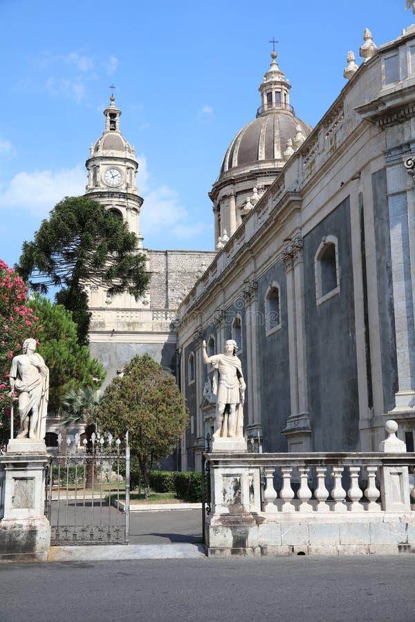 Catedral de Santa Agatha en Catania foto de archivo