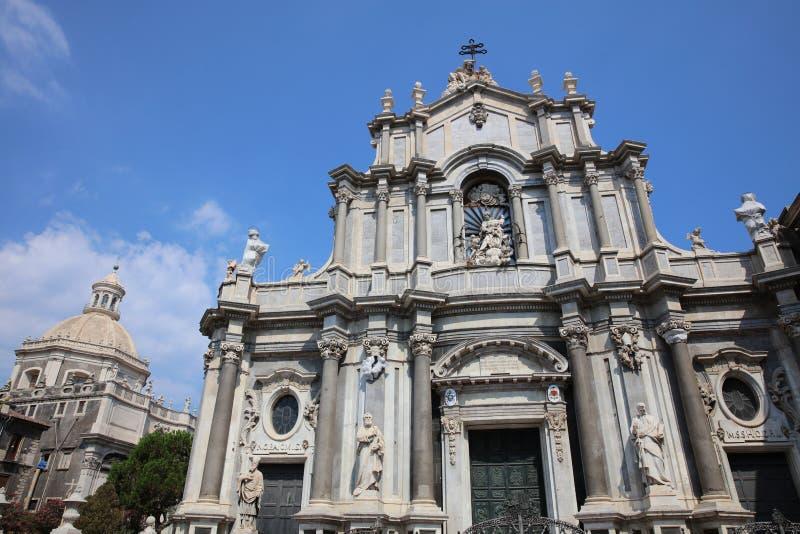 Catedral de Santa Agatha en Catania fotos de archivo libres de regalías