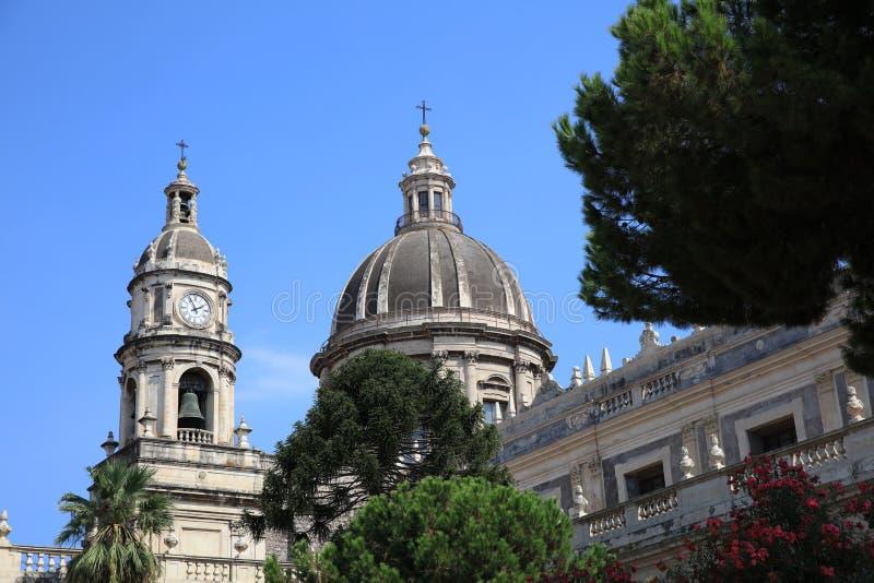Catedral de Santa Agatha en Catania sicilia Italia fotografía de archivo libre de regalías