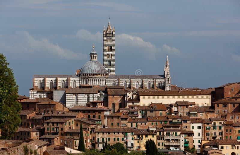 Catedral de Santa Maria Assunta Assumption Mary del Duomo, Siena, Toscana, Italia foto de archivo