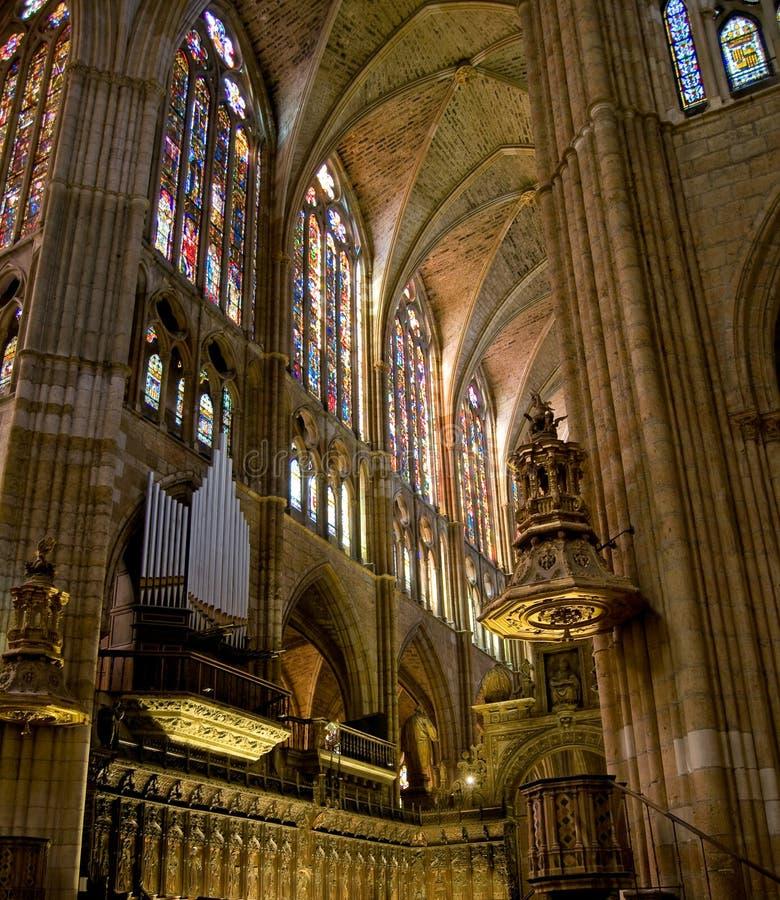 Catedral de Santa Maria de Leon. Spain imagens de stock royalty free