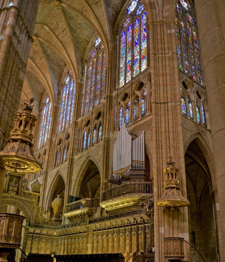 Catedral de Santa Maria de Leon. Spain fotografia de stock