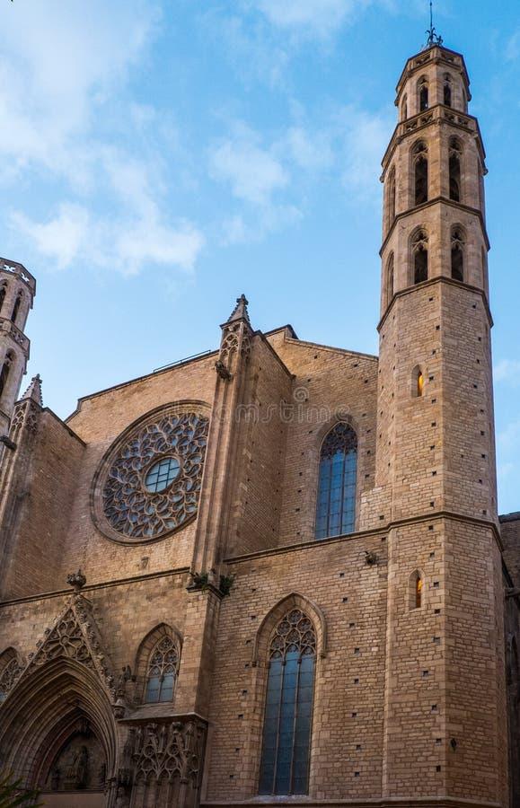 Catedral de Santa Maria del Mar fotos de archivo libres de regalías