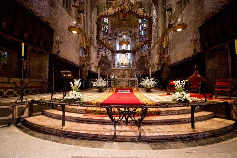 Catedral de Santa Maria em Palma de Mallorca imagens de stock