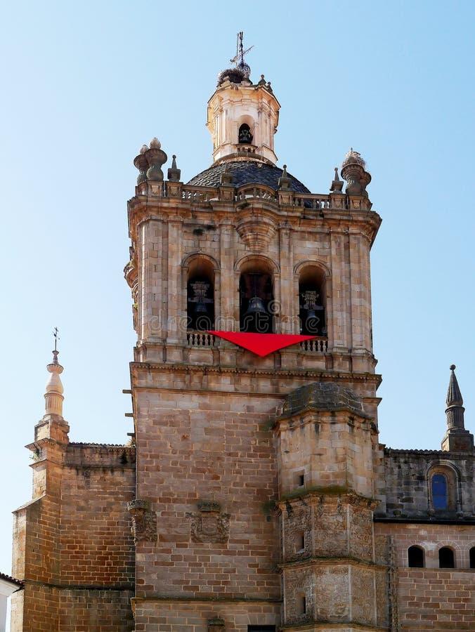 Catedral de Santa Maria de la Asuncion, dermis, Extremadura, España fotografía de archivo libre de regalías