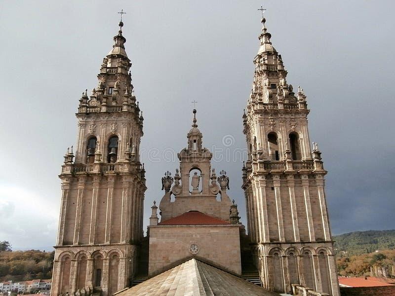 Catedral de Santiago de Compostela Galicia, Northwes España fotografía de archivo libre de regalías