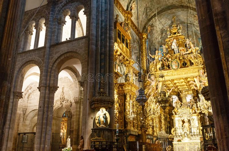 Catedral de Santiago de Compostela, Spain fotos de stock