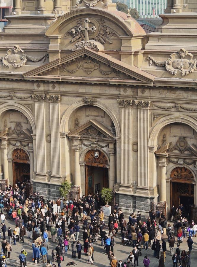Catedral de Santiago de Chile foto de archivo libre de regalías
