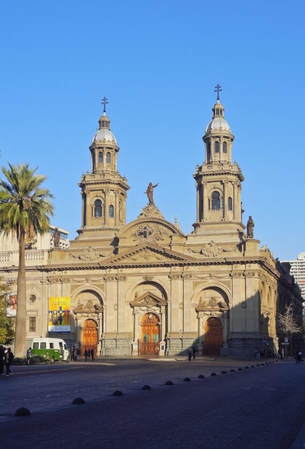 Catedral de Santiago de Chile foto de archivo