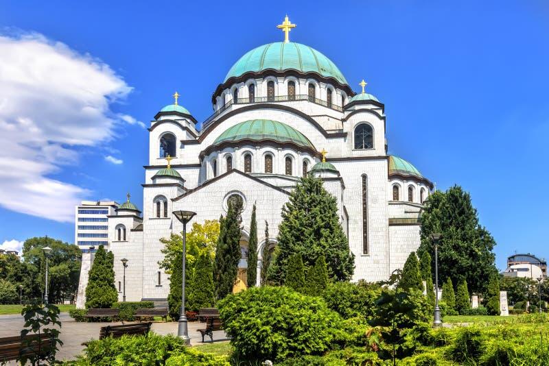 Catedral de Sava del santo en Belgrado, Serbia fotos de archivo