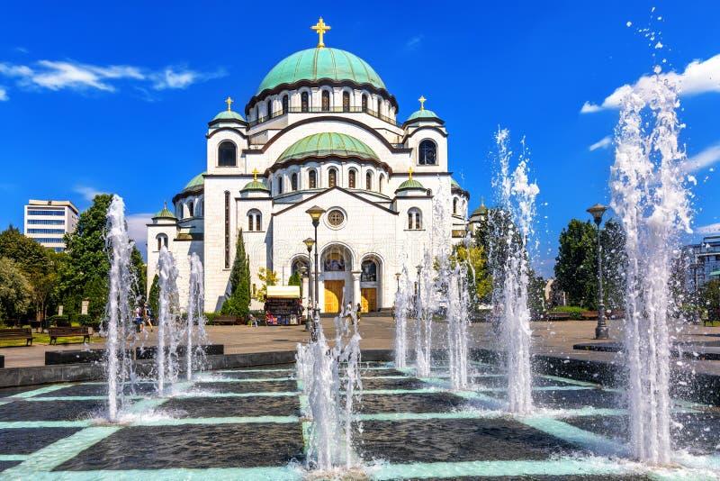 Catedral de Sava de Saint em Belgrado, Sérvia fotos de stock royalty free