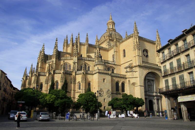Catedral de Segovia fotografia stock libera da diritti