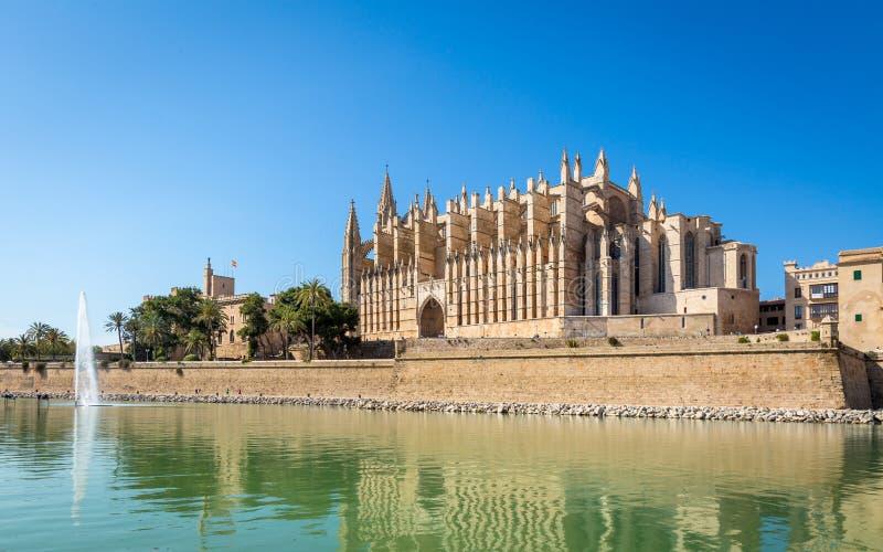 Catedral de Seu del La en Palma de Mallorca, Balearic Island imagen de archivo