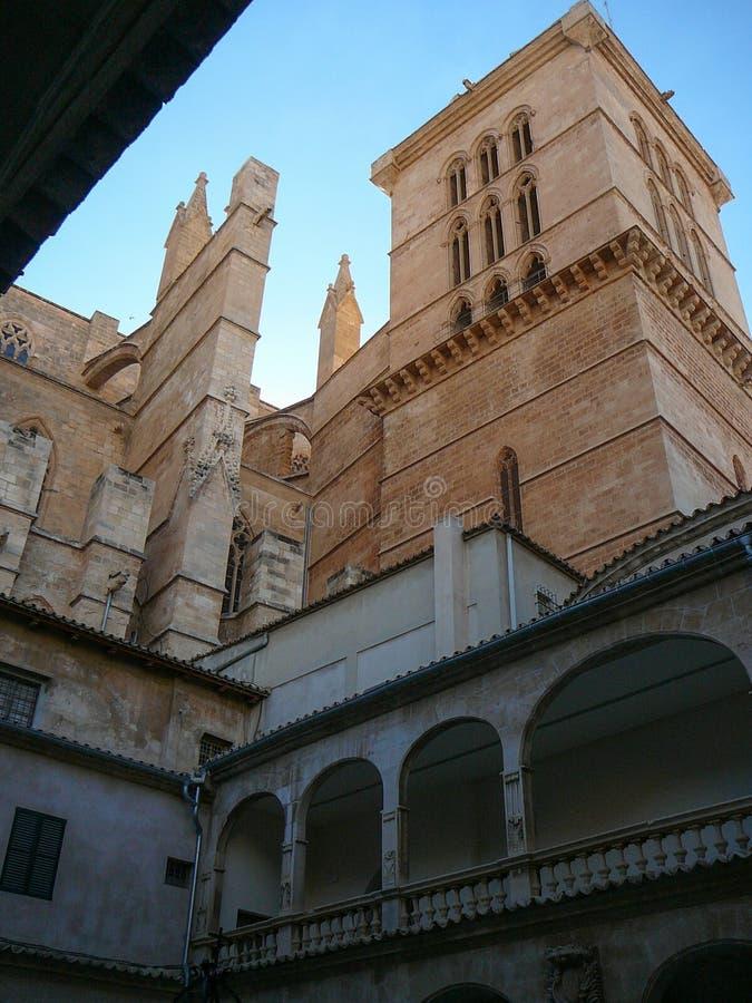 Catedral de Seu do La em Palma de Mallorca imagem de stock