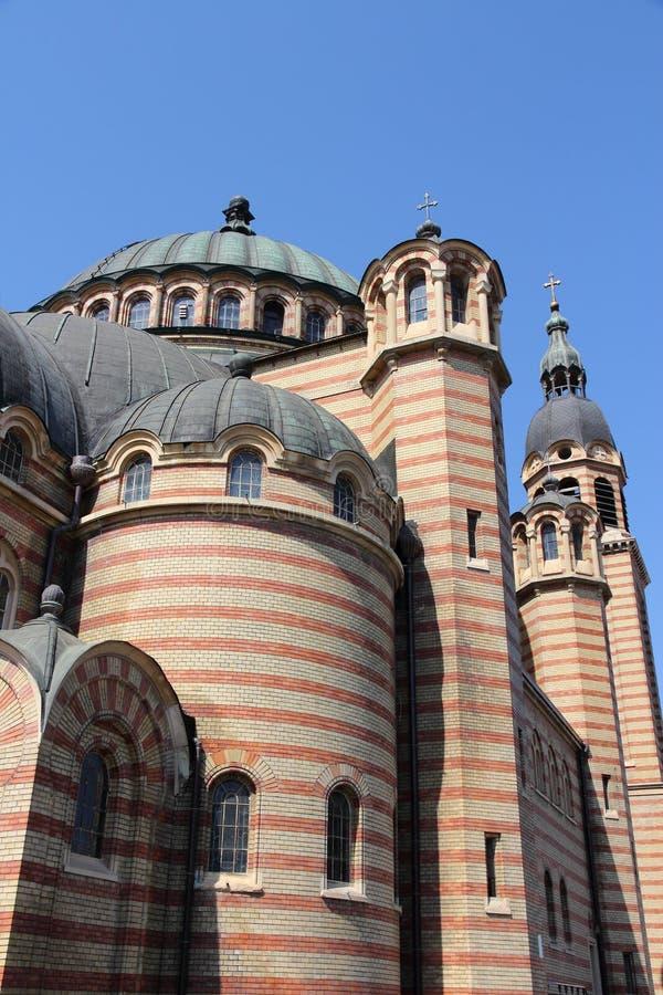 Catedral de Sibiu fotografía de archivo