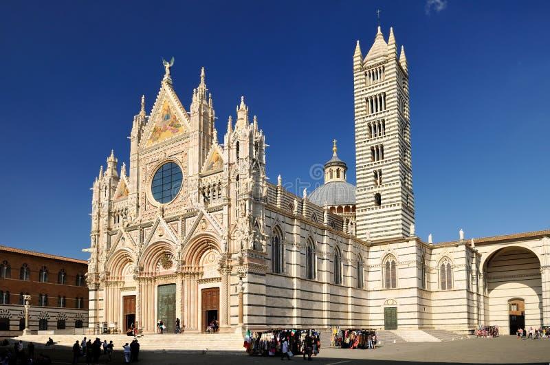 Catedral de Siena (duomo) fotos de archivo