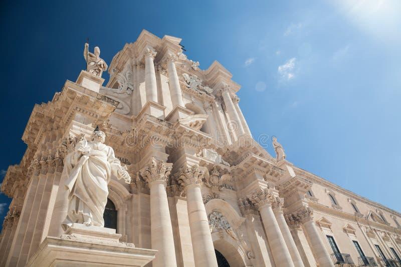 Catedral de Siracusa, Sicília imagens de stock
