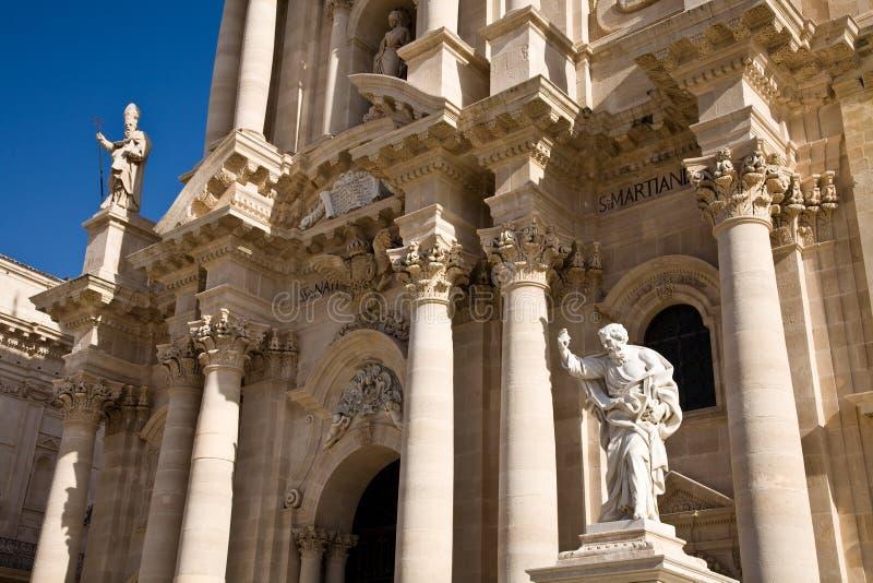 Catedral de Siracusa, Sicília fotografia de stock