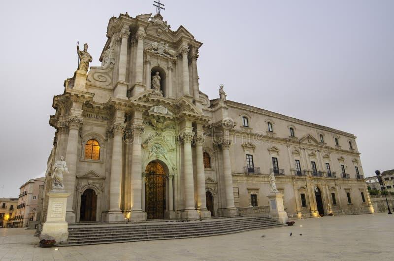 A catedral de Siracusa, Sicília foto de stock