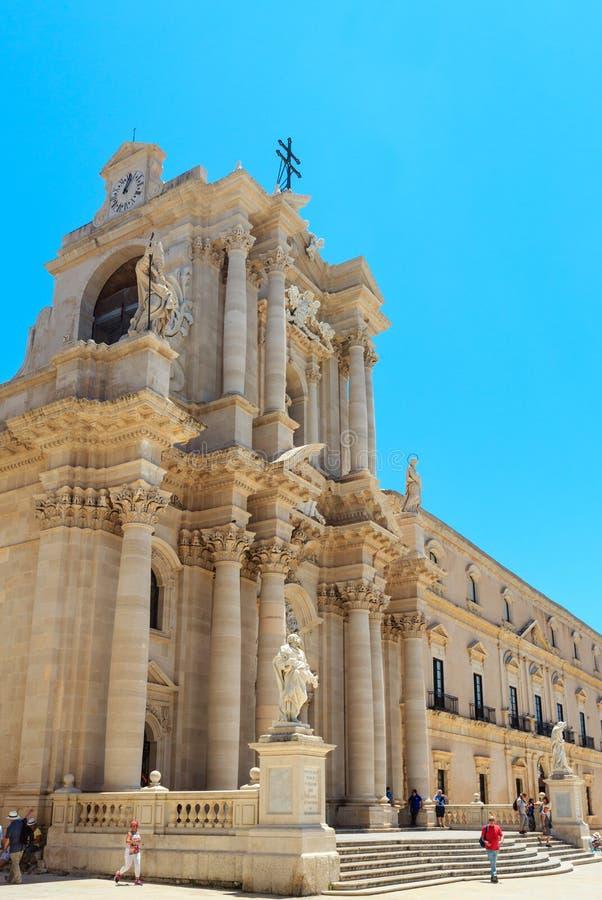 Catedral de Siracusa, Sicilia, Italia imagen de archivo libre de regalías