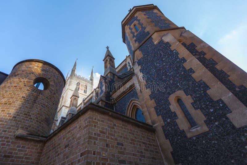 Catedral de Southwark em Londres imagens de stock royalty free