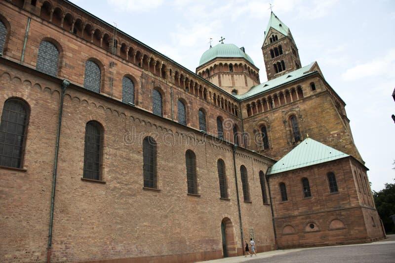 Catedral de Speyer en la ciudad de Speyer en Renania Palatinado, Alemania fotografía de archivo