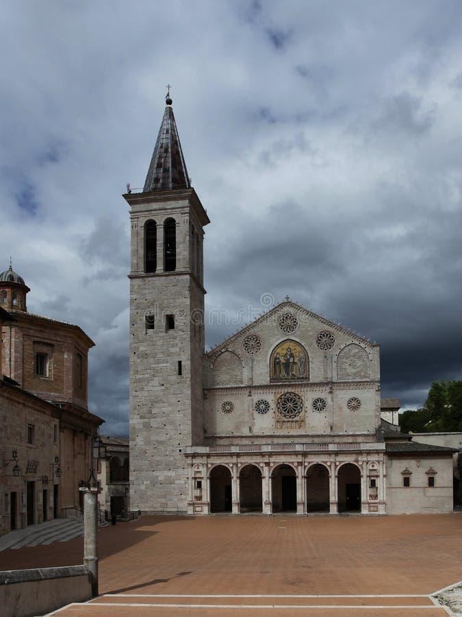 Catedral de Spoleto de Santa Maria Assunta, Itália imagem de stock