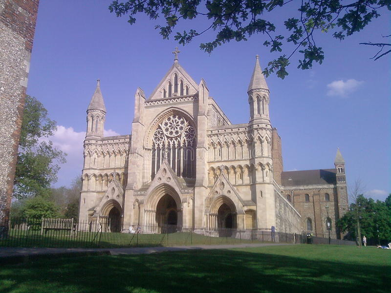 Catedral de St Albans imagem de stock royalty free