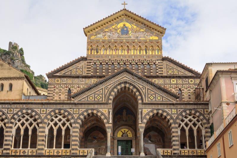 Catedral de St Andrew - Amalfi foto de archivo libre de regalías