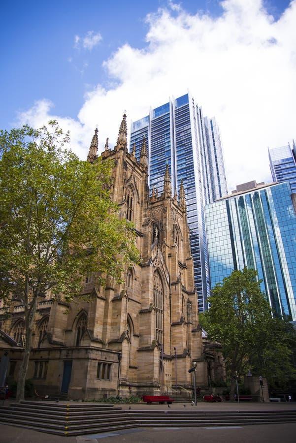 Catedral de St Andrew em Sydney imagens de stock royalty free