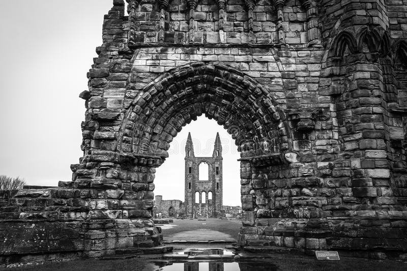 Catedral de St Andrews Ruins fotos de stock royalty free