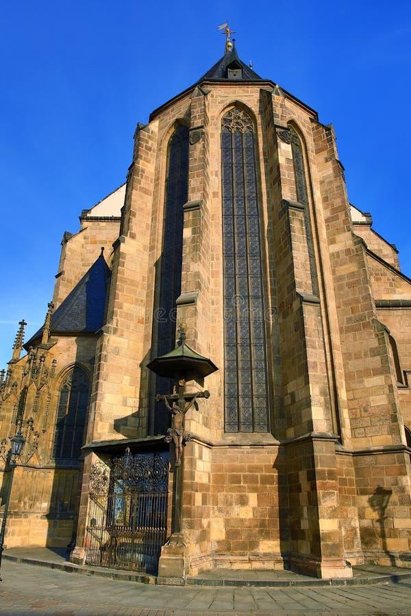 Catedral de St Bartholomew, arquitetura velha, Pilsen, República Checa foto de stock royalty free