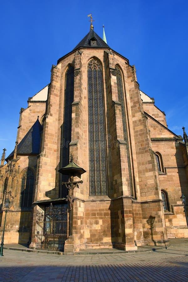 Catedral de St Bartholomew, arquitetura velha, Pilsen, República Checa imagem de stock