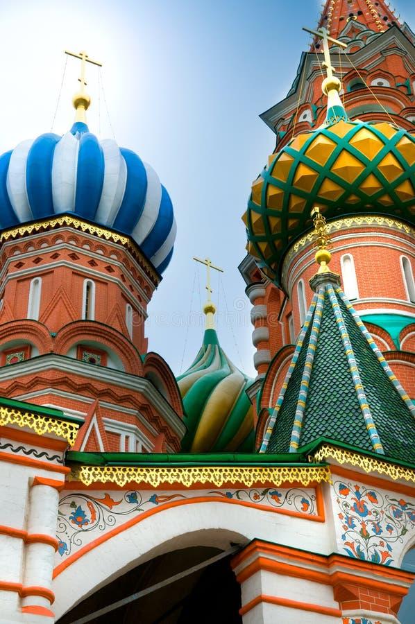 Catedral de St.Basil em Moscovo fotografia de stock