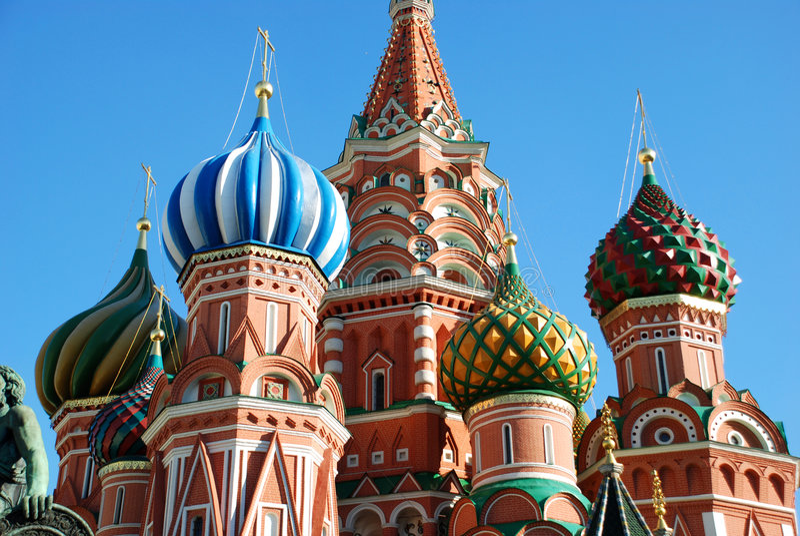 Catedral de St.Basil em Moscovo. fotografia de stock