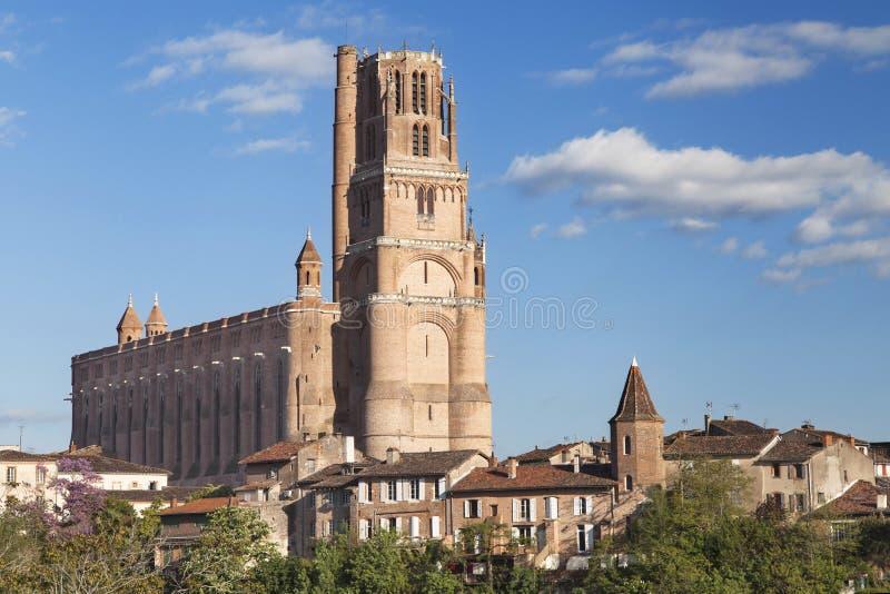 Catedral de St Cecilia de Albi fotografía de archivo libre de regalías