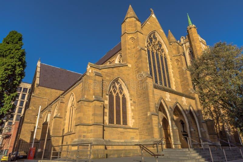 A catedral de St David em Hobart imagens de stock royalty free