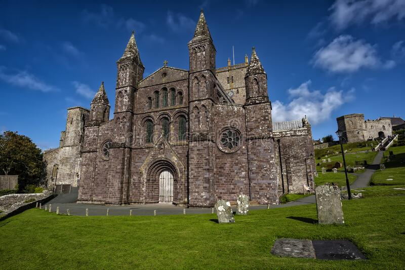 Catedral de St Davids en Pembrokeshire, Gales, Reino Unido imagen de archivo