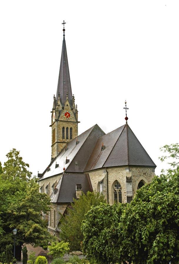 Catedral de St Florian do St em Vaduz Principado de Liechtenstein fotos de stock royalty free