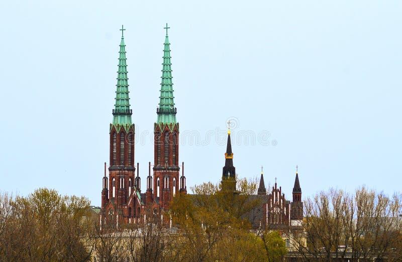 Catedral de St Florian, Praga, Varsovia, Polonia fotos de archivo