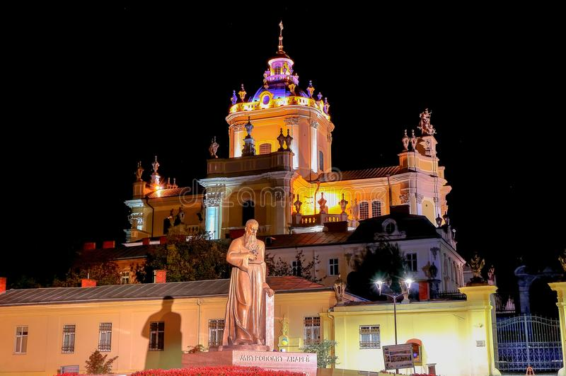 Catedral de St George em Lviv imagem de stock