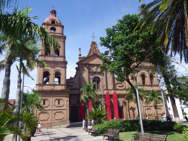Catedral de St Lawrence en Santa Cruz, Bolivia fotos de archivo