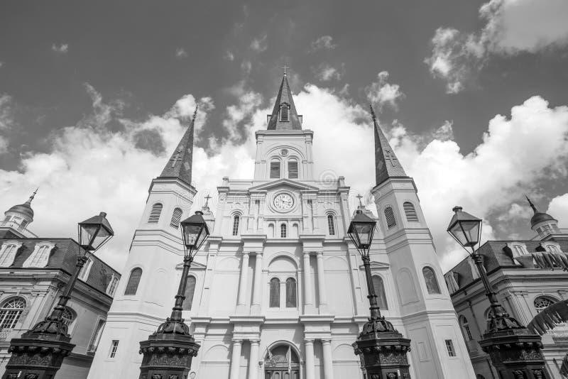 Catedral de St Louis en New Orleans, Luisiana fotografía de archivo