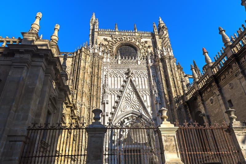 Catedral de St Mary del ver, Sevilla, España foto de archivo