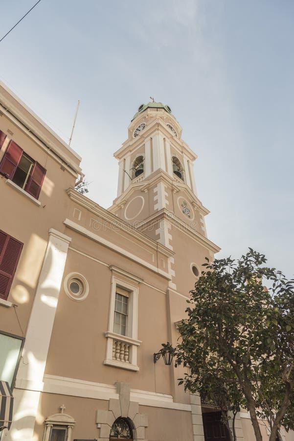 Catedral de St Mary el Gibraltar coronado foto de archivo