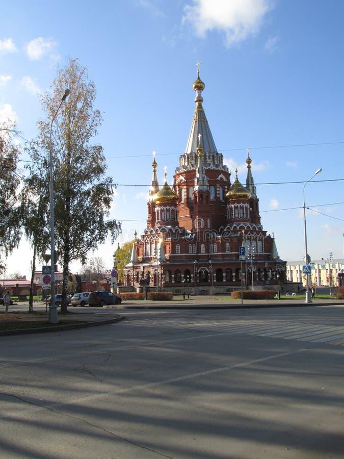 Catedral de St Michael The Archangel Izhevsk imagen de archivo libre de regalías