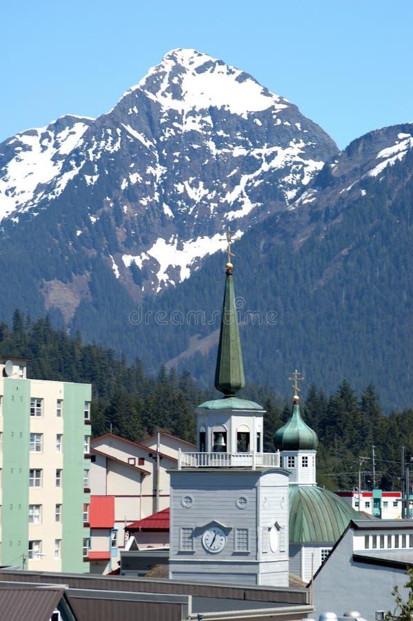 A catedral de St Michael em Sitka, Alaska foto de stock