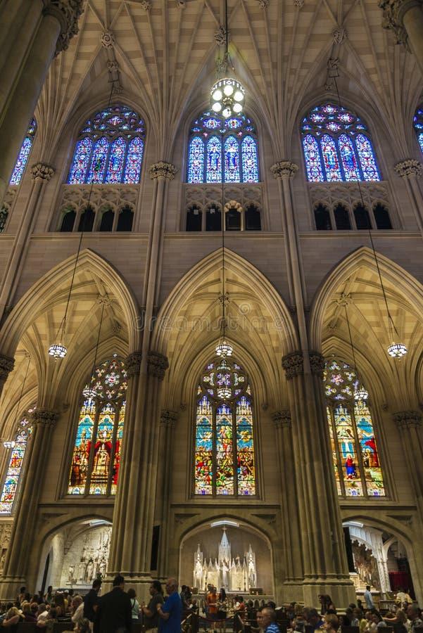 Catedral de St Patrick en Manhattan, New York City, los E.E.U.U. foto de archivo