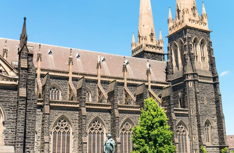 Catedral de St Patrick a igreja a mais grande em Melbourne, Austral fotografia de stock
