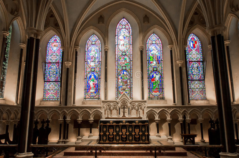 Catedral de St Patrick s em Dublin, Irlanda fotos de stock